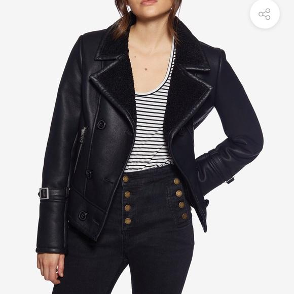 Avec Les Filles Jackets & Blazers - Vegan Leather Moto Jacket